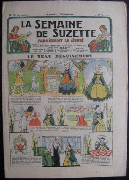La Semaine de Suzette 29e année n°13 (1933) Le beau déguisement (Manon Iessel)