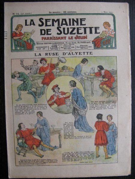 La Semaine de Suzette 29e année n°14 (1933) La ruse d'Alyette - Bécassine Bleuette