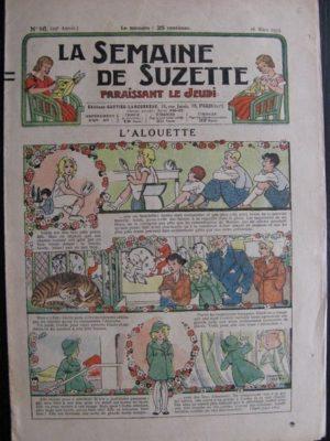 La Semaine de Suzette 29e année n°16 (1933) L'alouette (Manon Iessel) Bécassine Bleuette