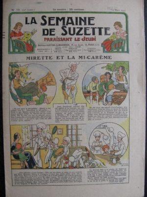 La Semaine de Suzette 29e année n°17 (1933) Miratte et la mi-carême (Manon Iessel) bécassine