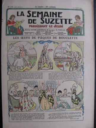 La Semaine de Suzette 29e année n°20 (1933) Les œufs de Pâques de Bouclette (Manon Iessel) Bécassine