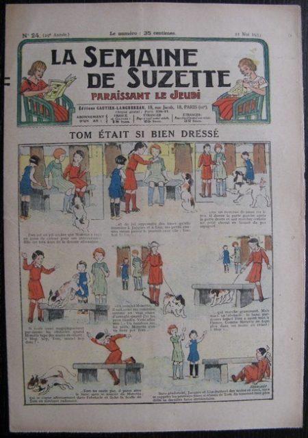 La Semaine de Suzette 29e année n°24 (1933) Tom était si bien dréssé - Bécassine