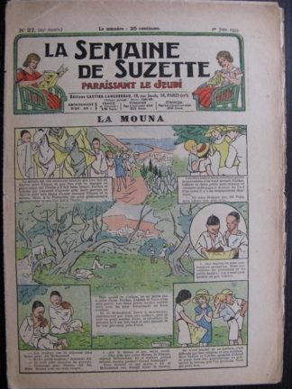 La Semaine de Suzette 29e année n°27 (1933) La mouna (Manon Iessel) Bleuette