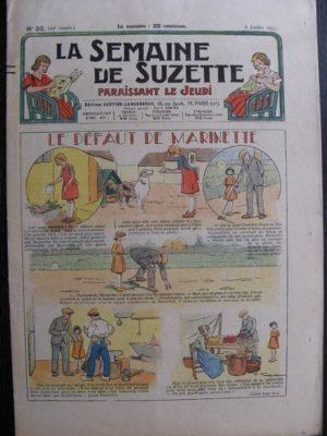 La Semaine de Suzette 29e année n°32 (1933) Le défaut de Marinette – Les méfaits de Titoute
