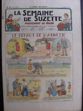 La Semaine de Suzette 29e année n°32 (1933) Le défaut de Marinette - Les méfaits de Titoute