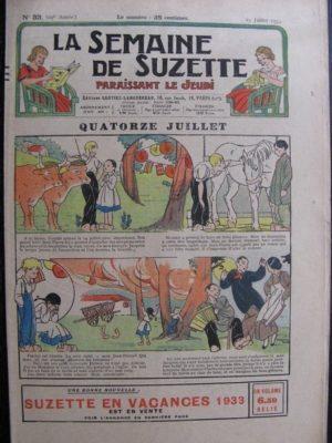 La Semaine de Suzette 29e année n°33 (1933) Quatorze Juillet (Manon Iessel)  Les méfaits de Titoute