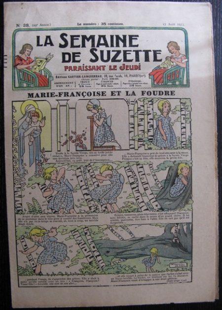 La Semaine de Suzette 29e année n°38 (1933) Marie-Françoise et la foudre (Manon Iessel) Bleuette