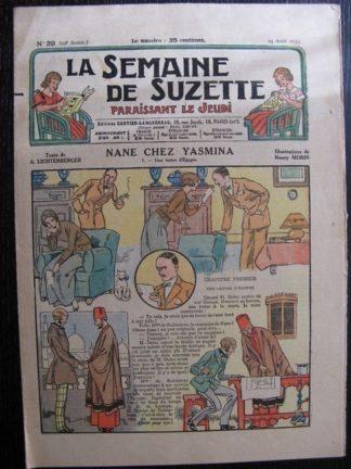 La Semaine de Suzette 29e année n°39 (1933) Nane chez Yasmina