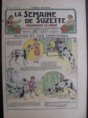 La Semaine de Suzette 29e année n°40 (1933) Pluton et les confitures (Le Rallic) Nane chez Yasmina – Bleuette