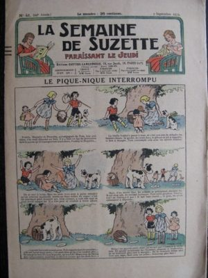La Semaine de Suzette 29e année n°41 (1933) Le pique-nique interrompu – Nane chez Yasmina