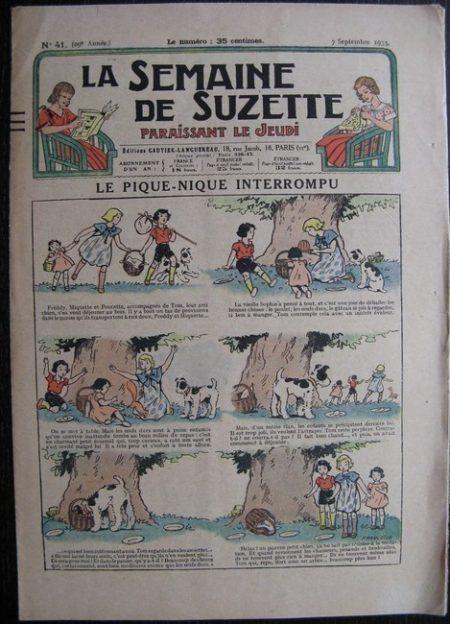 La Semaine de Suzette 29e année n°41 (1933) Le pique-nique interrompu - Nane chez Yasmina