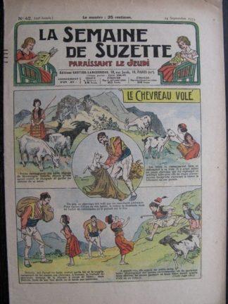 La Semaine de Suzette 29e année n°42 (1933) Le chevreau volé - Nane chez Yasmina