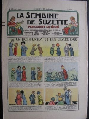 La Semaine de Suzette 29e année n°45 (1933) Un hortensia et des chardons – Nane chez Yasmina