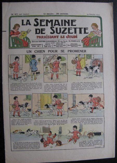 La Semaine de Suzette 29e année n°47 (1933) Un chien pour se promener - Nane chez Yasmina