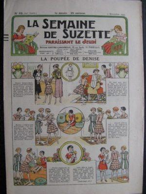 La Semaine de Suzette 29e année n°49 (1933) La poupée de Denise – Nane chez Yasmina – Bleuette
