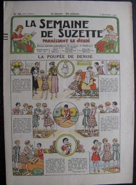 La Semaine de Suzette 29e année n°49 (1933) La poupée de Denise - Nane chez Yasmina - Bleuette