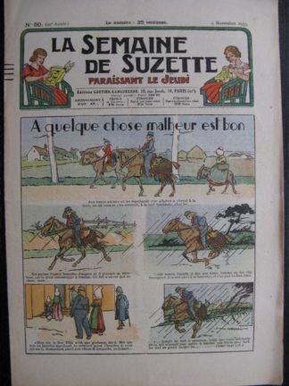 La Semaine de Suzette 29e année n°50 (1933) A quelque chose malheur est bon - Nane chez Yasmina