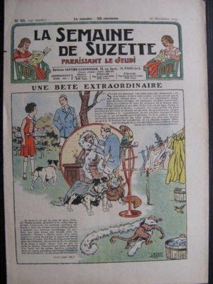 La Semaine de Suzette 29e année n°51 (1933) Une bête extraordinaire (Le Rallic)  – Nane chez Yasmina – Bleuette