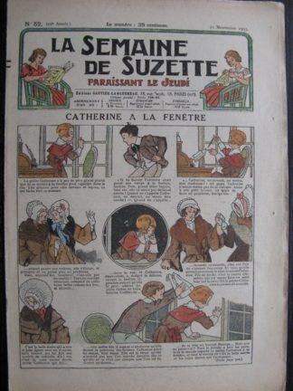 La Semaine de Suzette 29e année n°52 (1933) Catherine à la fenêtre - Nane chez Yasmina