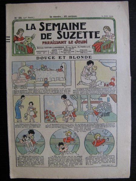 La Semaine de Suzette 30e année n°28 (1934) - Douce et blonde (Bécassine)