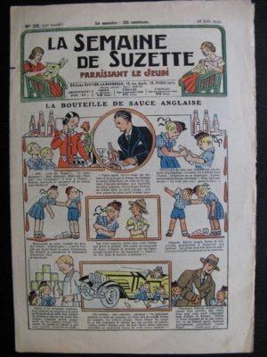 La Semaine de Suzette 30e année n°30 (1934)- La bouteille de sauce anglaise (Bécassine)