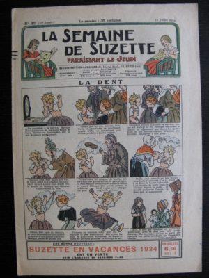La Semaine de Suzette 30e année n°32 (1934) – La dent (Titoute)