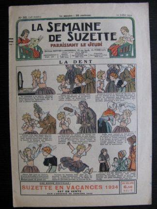 La Semaine de Suzette 30e année n°32 (1934) - La dent (Titoute)