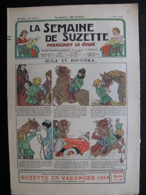 La Semaine de Suzette 30e année n°35 (1934) – Olga et Douchka (Titoute)