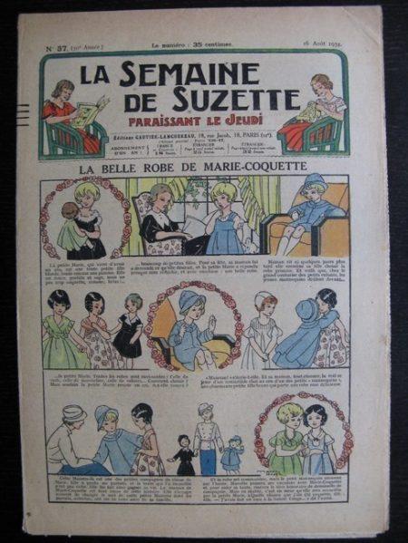 La Semaine de Suzette 30e année n°37 (1934) - La belle robe de Marie-Coquette (Titoute)/