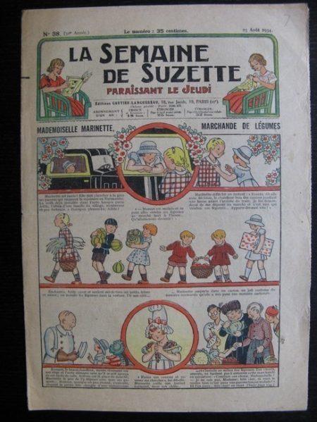 La Semaine de Suzette 30e année n°38 (1934) - Mademoiselle Marinette, marchande de légumes (Titoute)/
