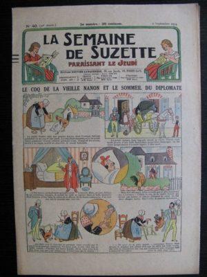 La Semaine de Suzette 30e année n°40 (1934) – Le coq de la vielle Nanon (Nane)/