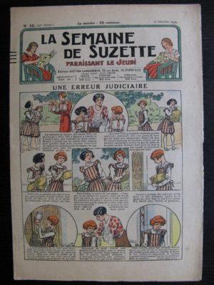La Semaine de Suzette 30e année n°45 (1934) – Une erreur judiciaire (Nane)