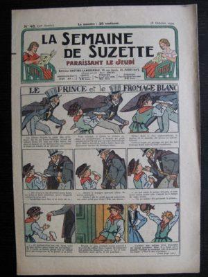 La Semaine de Suzette 30e année n°46 (1934) – Le prince et le fromage blanc (Nane)