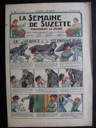 La Semaine de Suzette 30e année n°46 (1934) - Le prince et le fromage blanc (Nane)