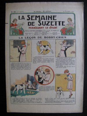 La Semaine de Suzette 30e année n°50 (1934) – La leçon de Bobby chien (Nane)