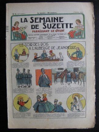 La Semaine de Suzette 31e année n°5 (3/01/1935) - Le soir des rois à l'auberge (Bécassine Bleuette)