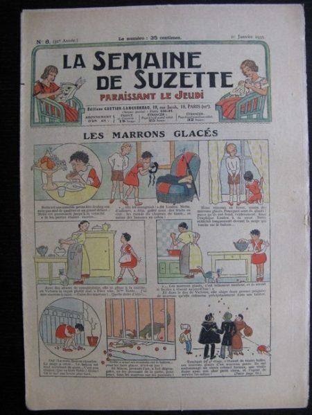 La Semaine de Suzette 31e année n°6 (10/01/1935) - Les marrons glacés (Bécassine)