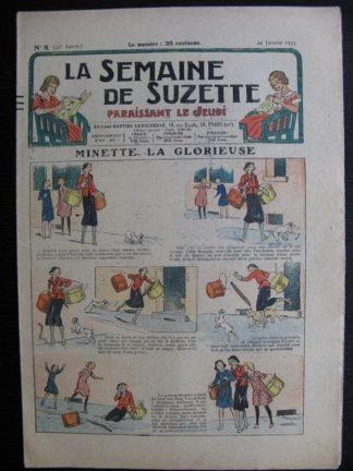 La Semaine de Suzette 31e année n°8 (24/01/1935) - Minette la glorieuse (Bécassine)
