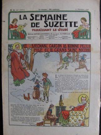 La Semaine de Suzette 33e année n°2 (10/12/1936) - Le méchant garçon et Saint Nicolas (Bécassine Bleuette)