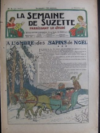 La Semaine de Suzette 33e année n°4 (24/12/1936) - A l'ombre des sapins de Noël