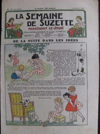 La Semaine de Suzette 33e année n°7 (14/01/1937) - De la suite dans les idées (Bécassine Bleuette)