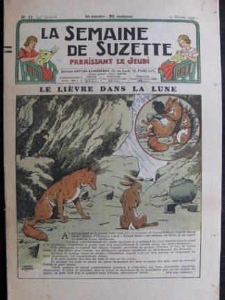La Semaine de Suzette 33e année n°11 (11/02/1937) - Le lièvre dans la lune (Bécassine Bleuette)