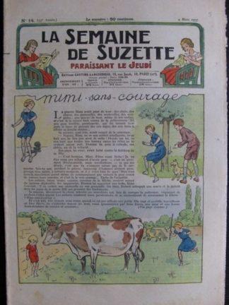La Semaine de Suzette 33e année n°14 (4/03/1937) - Mimi sans courage (Bécassine)