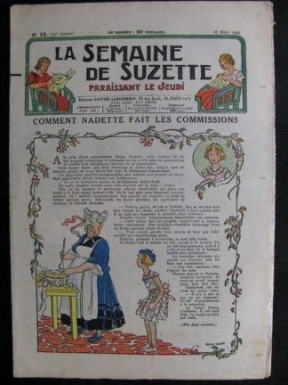 La Semaine de Suzette 33e année n°16 (18/03/1937) - Comment Nadette fait les commissions