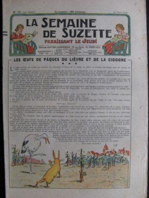 La Semaine de Suzette 33e année n°17 (25/03/1937) – Les œufs de Pâques du lièvre et de la cigogne (Bécassine Bleuette)
