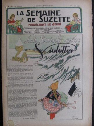 La Semaine de Suzette 33e année n°18 (1/04/1937) - La sainte aux violettes (Bécassine)