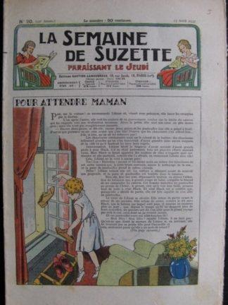 La Semaine de Suzette 33e année n°20 (15/04/1937) - Pour attendre maman (Bécassine)
