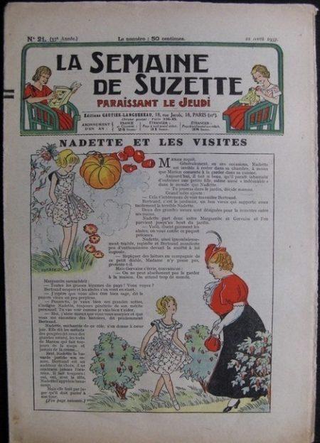 La Semaine de Suzette 33e année n°21 (22/04/1937) - Nadette et les visites (Bécassine)