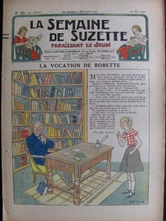 La Semaine de Suzette 33e année n°25 (20/05/1937) - La vocation de Bobette (Bleuette)