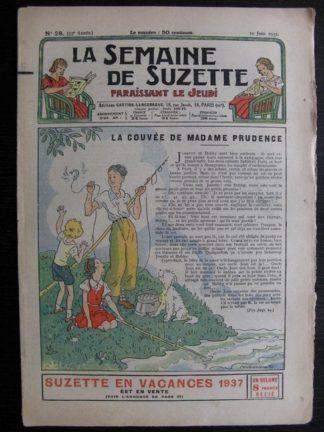 La Semaine de Suzette 33e année n°28 (10/06/1937) - La couvée de madame Prudence